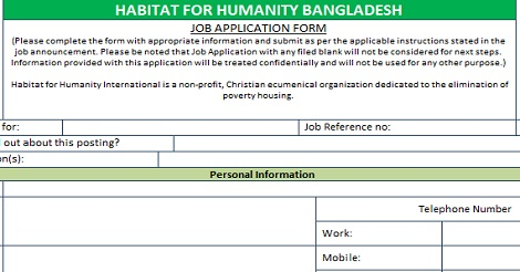Habitat for Humanity International Job
