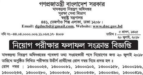 DNC Admit Card Download and Exam Result